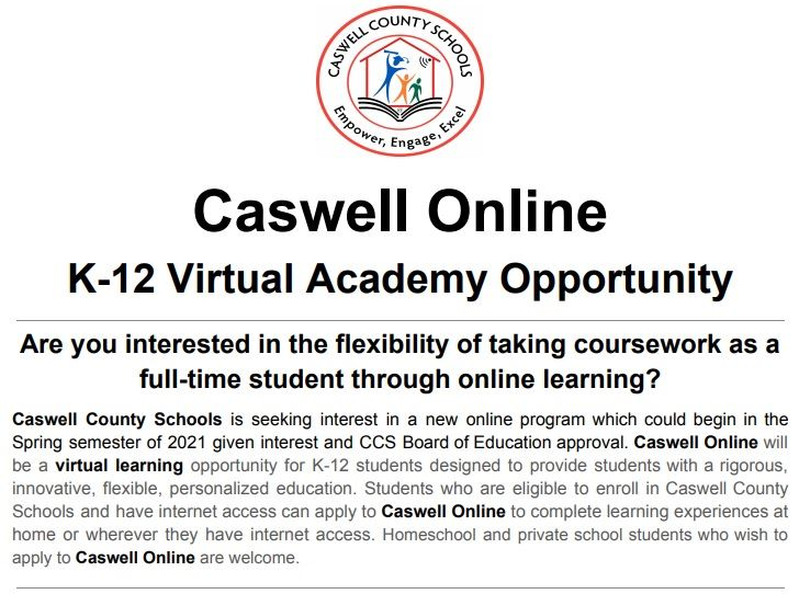 Caswell Online Program